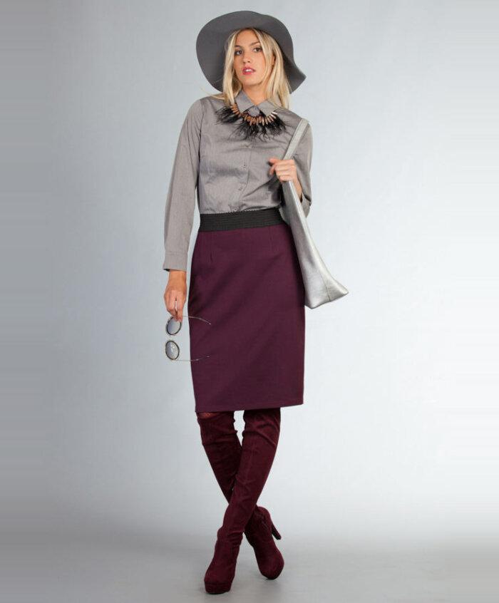 Φούστα στενή με λάστιχο  7eb05a208c2