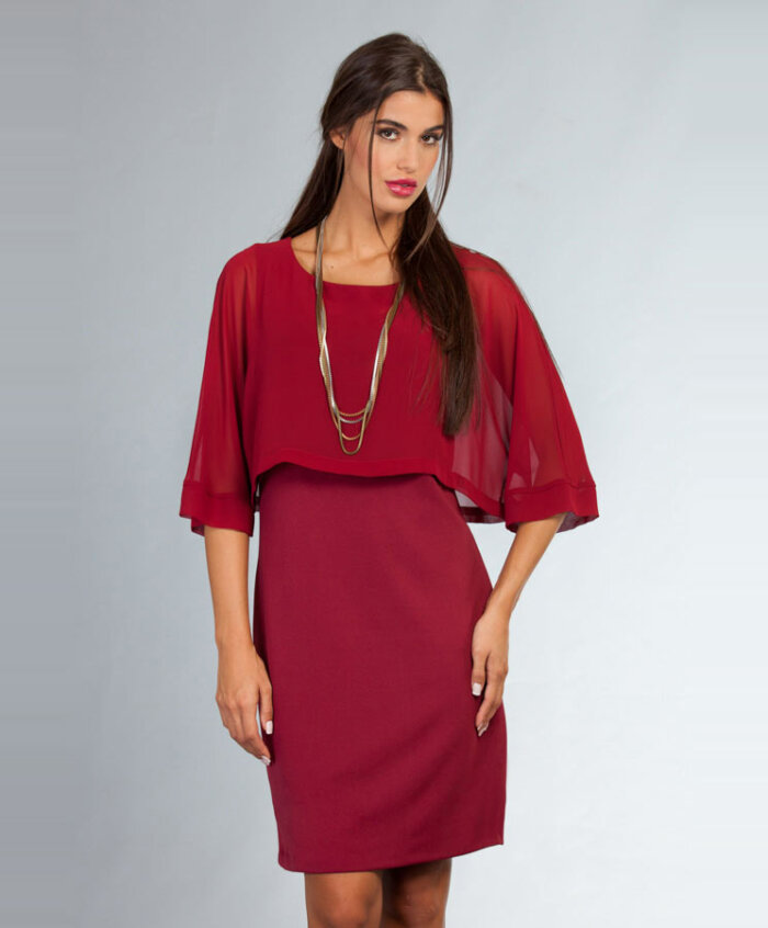 c53e1c93ff55 Φόρεμα με ημιδιάφανο τοπ