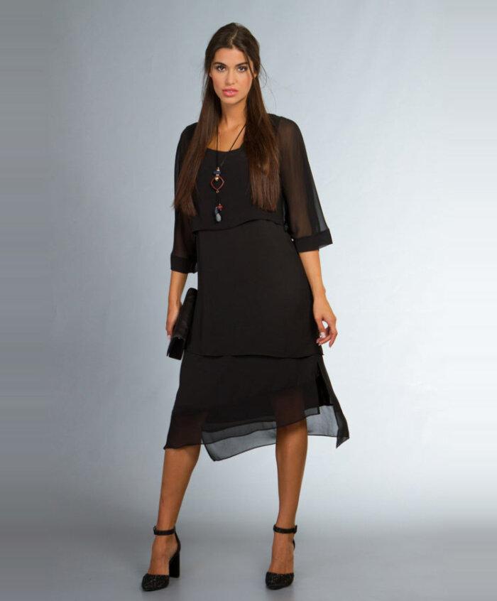 3aebdb8be93e Φόρεμα με διαφάνειες στο πάνω και κάτω μέρος