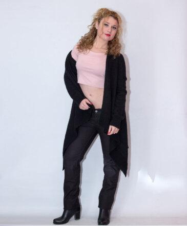 Παντελόνι jean χαμηλοκάβαλο μαύρο