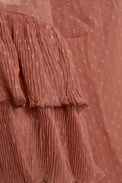 Μπλούζα με φλαμπαράδες στα μανίκια (2)