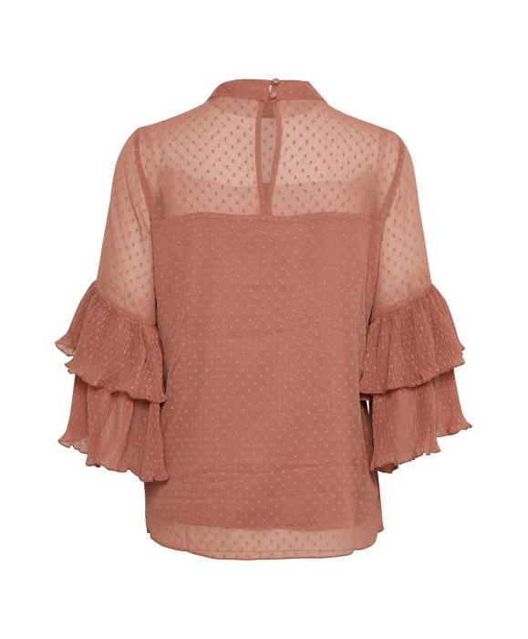 Μπλούζα με φλαμπαράδες στα μανίκια (3)