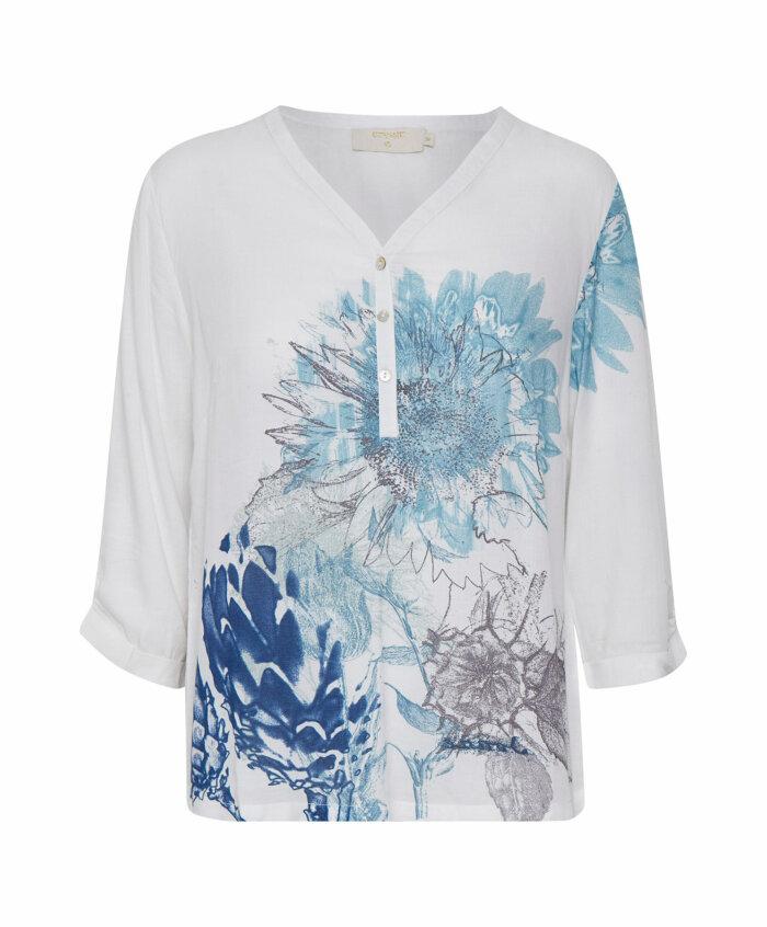 80a369b44c5c Μπλούζα viscose με τύπωμα λουλούδια