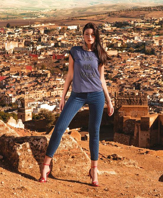 Παντελόνι jean πουά φωτό