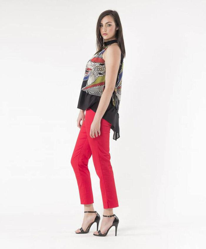 Παντελόνι υφασμάτινο κόκκινο
