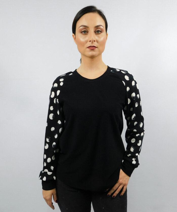 781a9228739f Μπλούζα-μαύρη-με-πουά-μανίκ