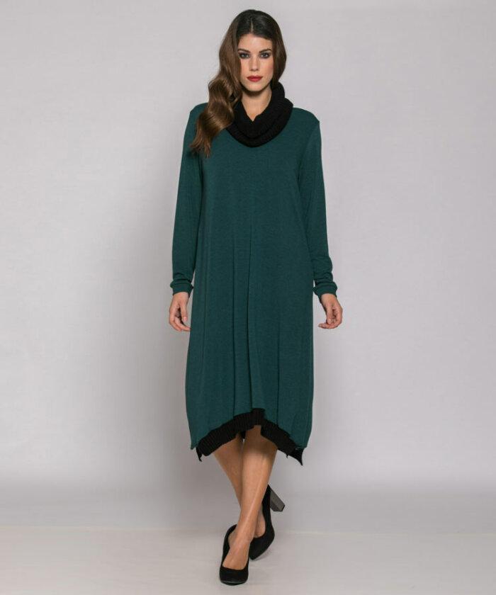 Φόρεμα με πλεκτές λεπτομέρειες