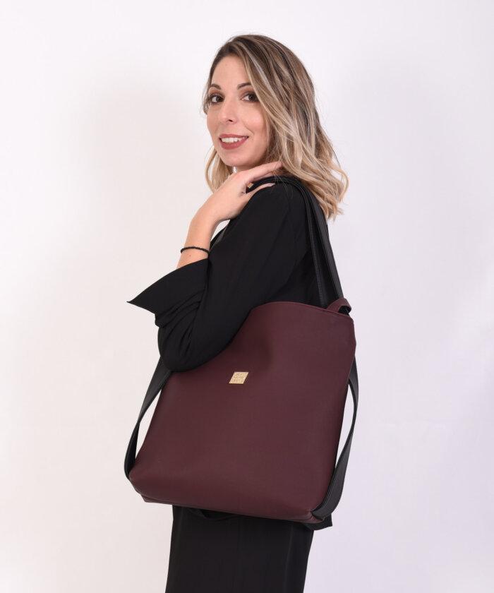 Τσάντα μπορντό