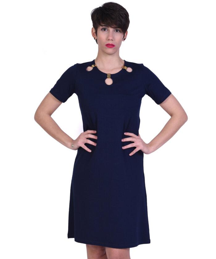 01f8fd998861 Φόρεμα με Σχέδιο στη Λαιμόκοψη