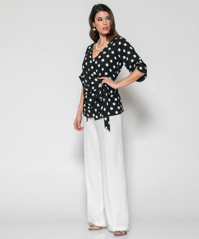 63321b1cba8 Μπλούζα Πουά Κρουαζέ | Vaya Fashion Boutique