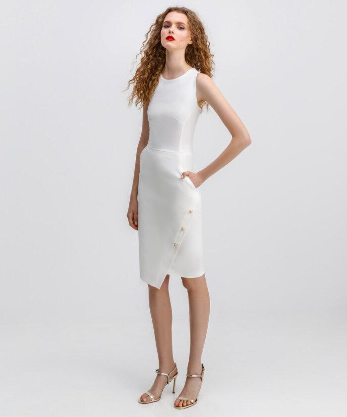 eb3d36058e2 Φόρεμα Λευκό Στενό | Vaya Fashion Boutique