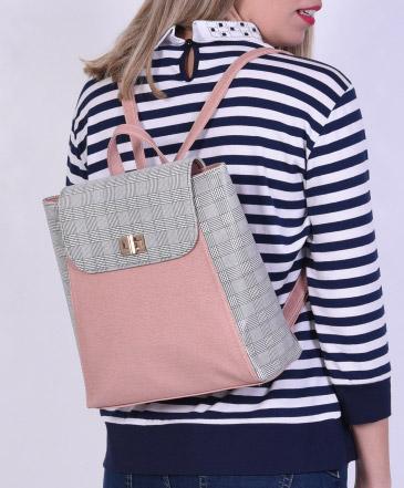 Backpack Ροζ Καρό
