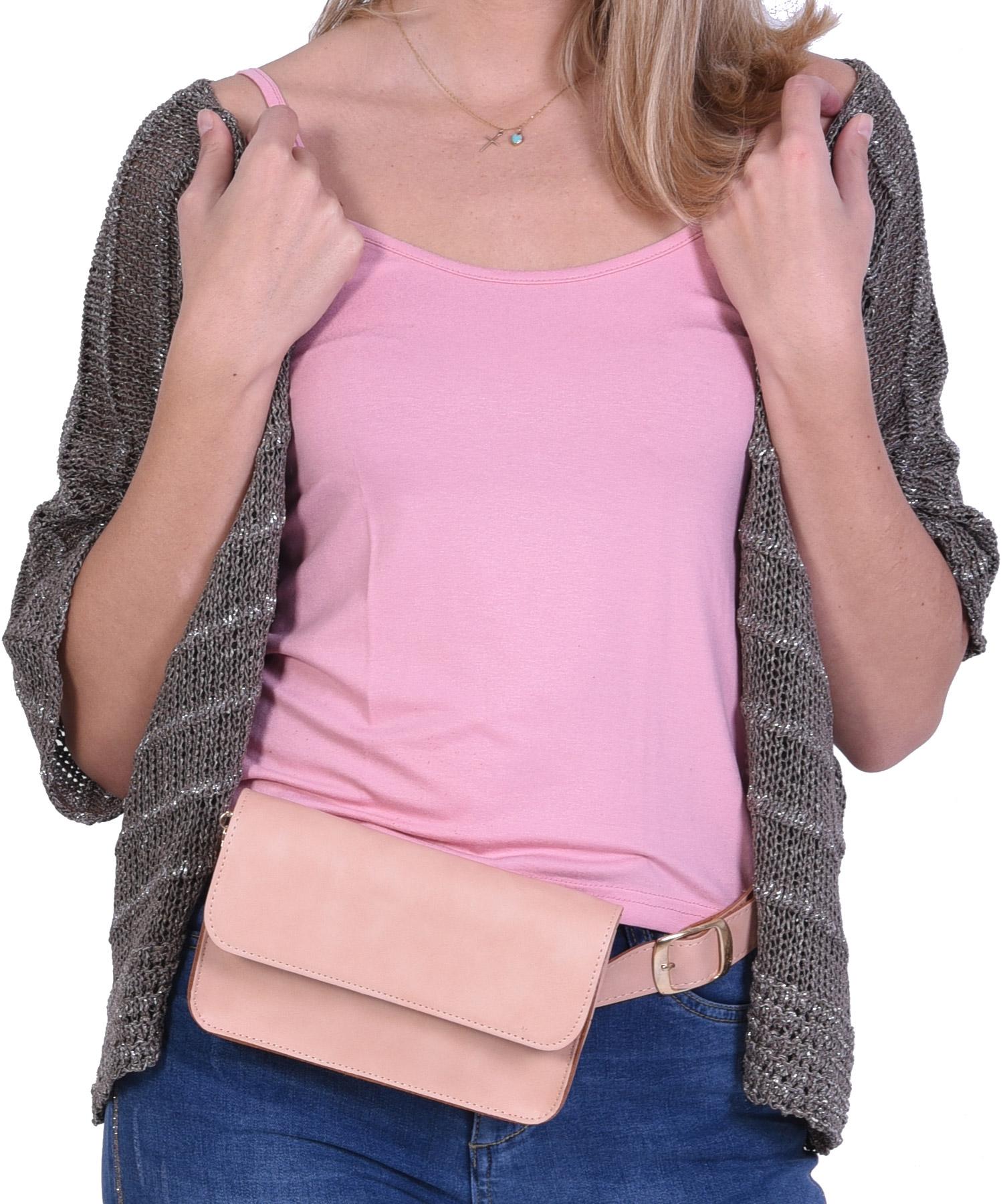 Τσάντα Μέσης Ροζ