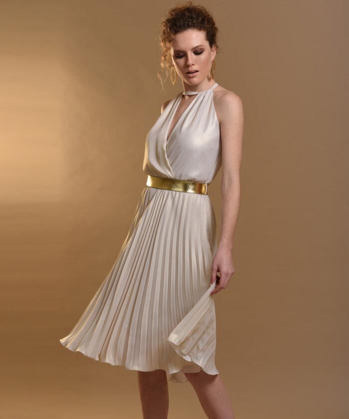 Φόρεμα Πλισέ Πέρλα