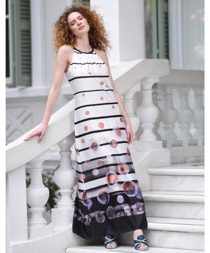 7cf94d2618e8 Φόρεμα Μάξι Ριγέ