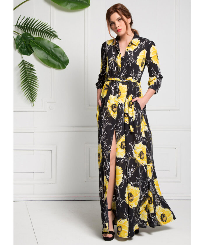 Φόρεμα μάξι με άνοιγμα