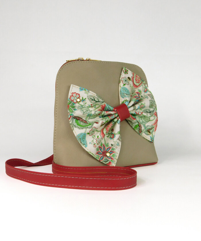 Τσάντα χιαστί με φιόγκο Πλαϊνό