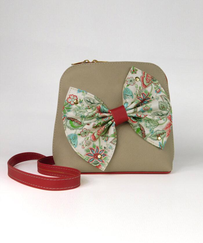 Τσάντα χιαστί με φιόγκο