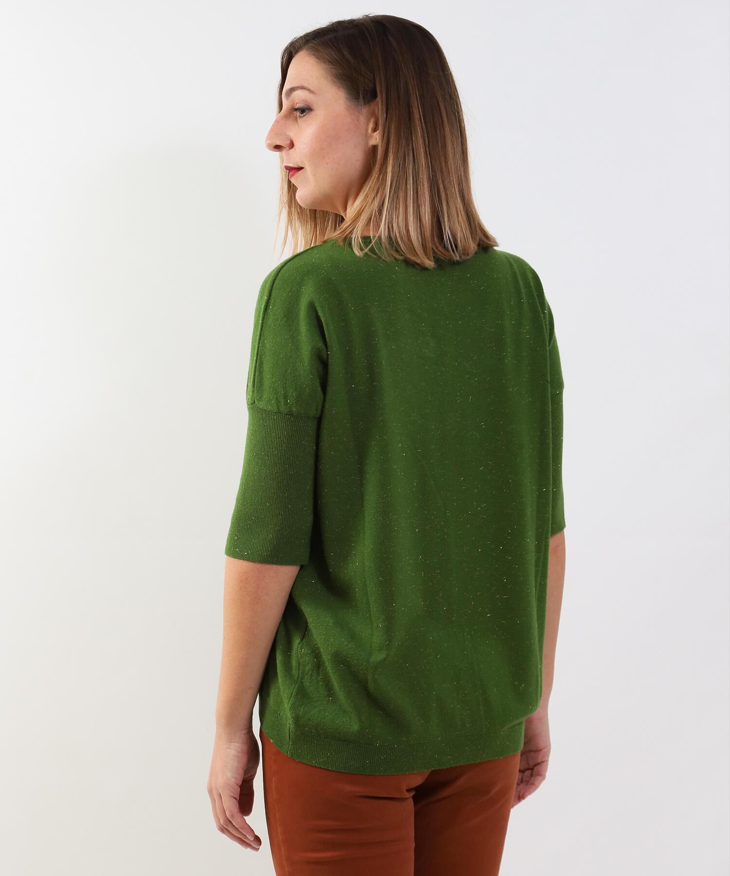 Μπλούζα Πλεκτή Πράσινη Lurex