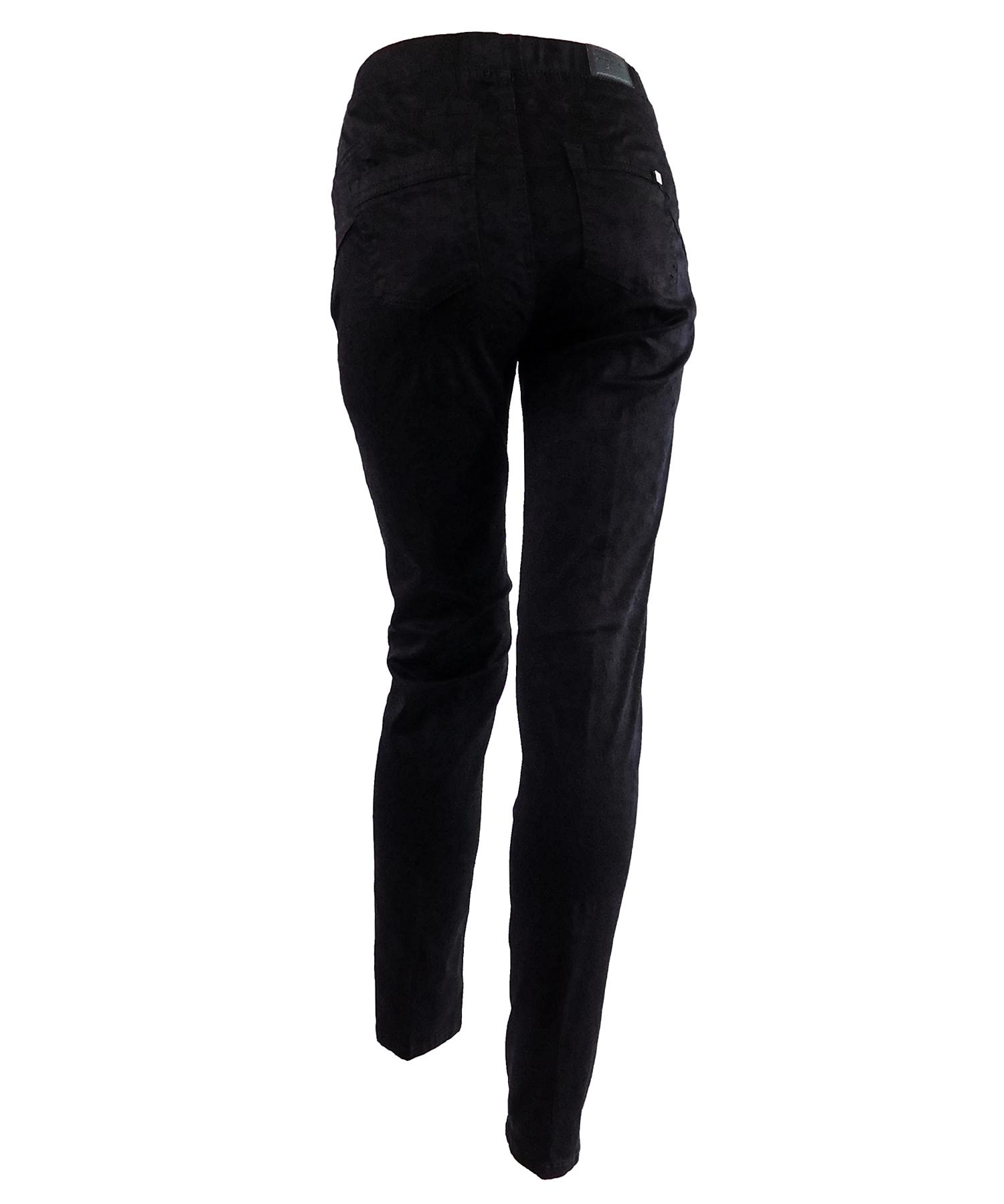 Παντελόνι Υφασμάτινο Φλοράλ Μαύρο