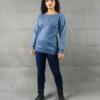 Μπλούζα Πλεκτή Γαλάζια Lurex