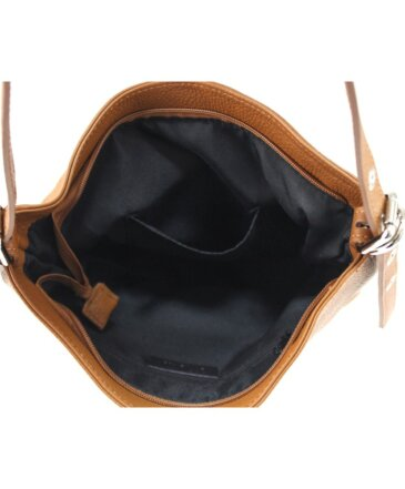 Rita Δερμάτινη Τσάντα Ώμου Μπεζ