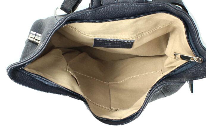 sana leather backpack inside