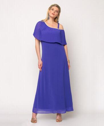 Φόρεμα Μάξι με Πλισέ Μπούστο