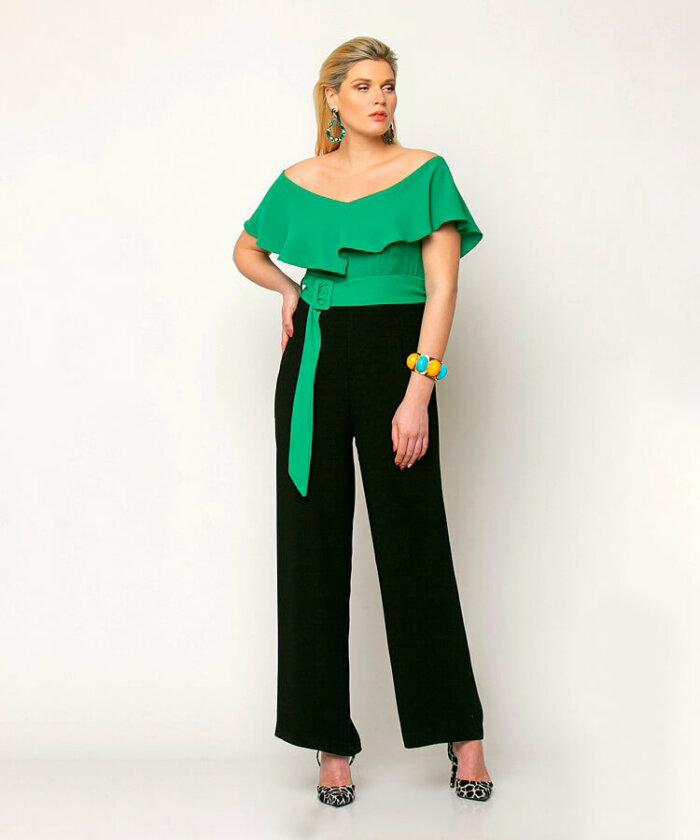Φόρμα Ολόσωμη Μαύρη με Πράσινο