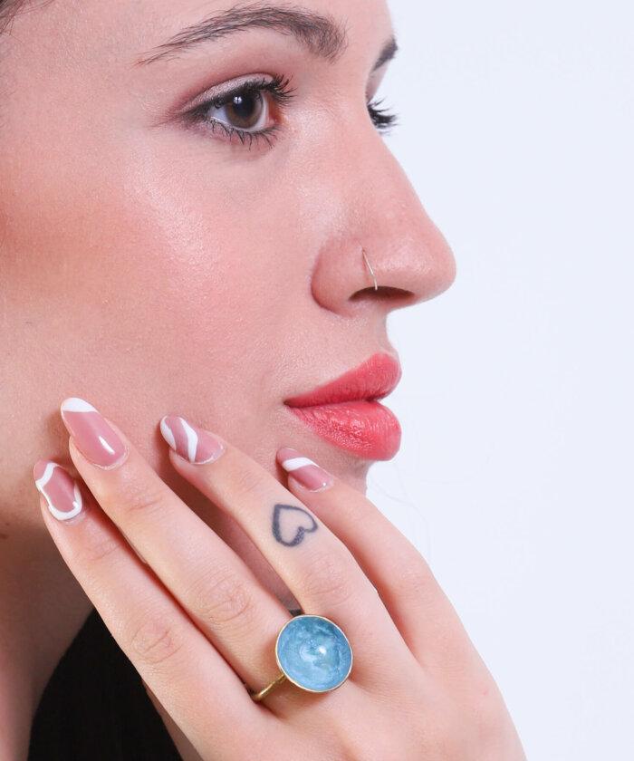 δαχτυλίδι γαλάζιο